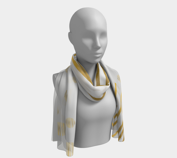 Ocean Of Gold Long Chiffon Scarf - Mila Lansdowne Design