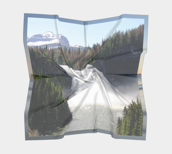 Image of Kinuseo Falls Scarf (on clouds) - Mila Lansdowne Designer Collection