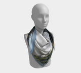 "Image of Kinuseo Falls Scarf (on clouds) - Mila Lansdowne Designer Collection ""Tumbler Ridge"" (version ""clouds"" available in 12 variants)"