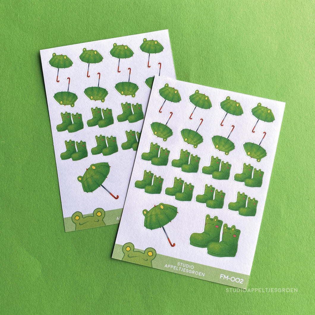Planner stickers | Rainy Frog FM-002