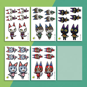 ACNH | Cat stickers #2