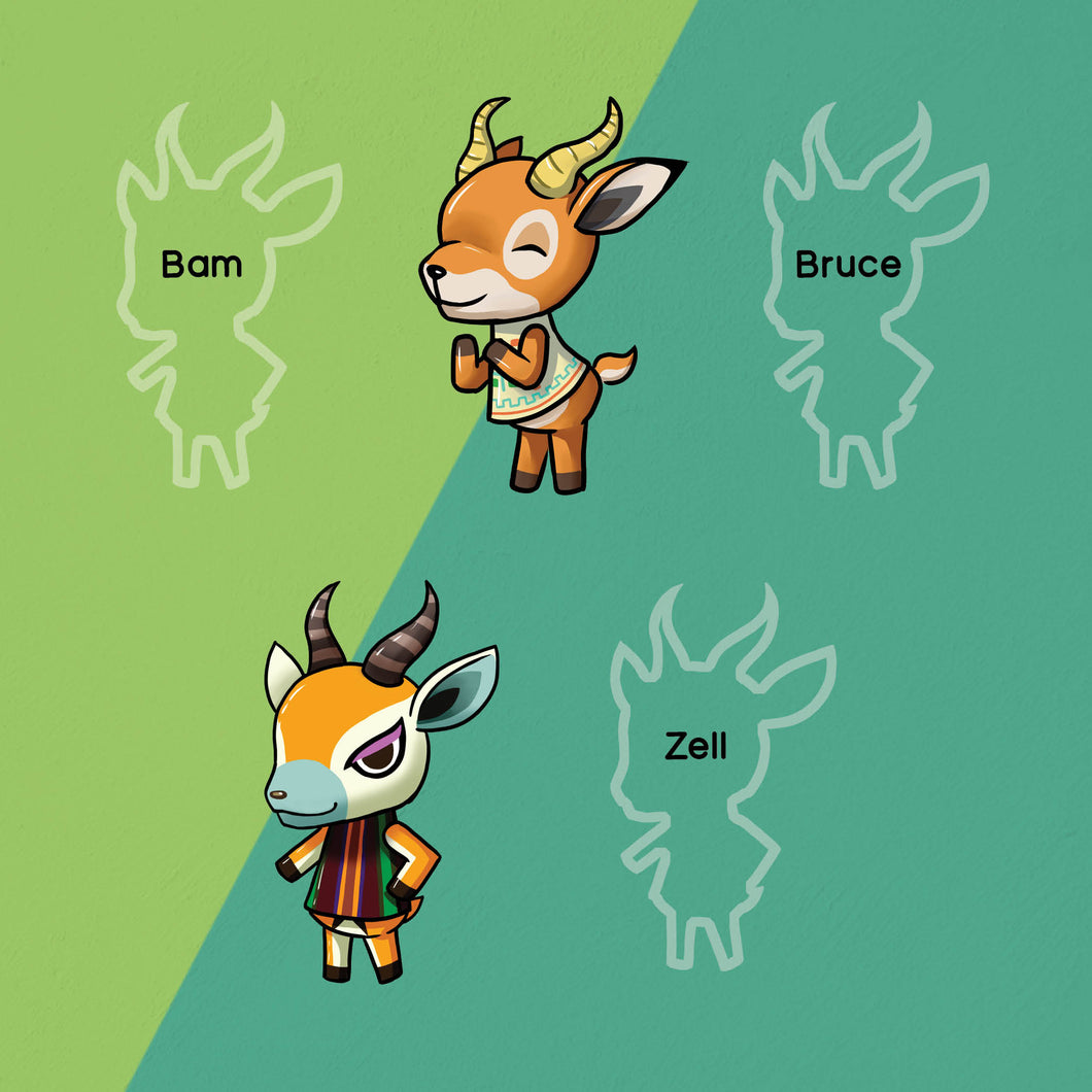 ACNH | Deer stickers #2
