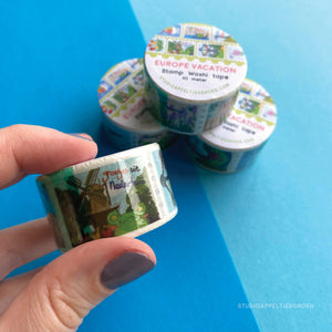 Floris the Frog | European Vacation, washi tape