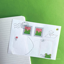 Load image into Gallery viewer, Frog Mail | August 2020 Stickersheet