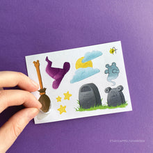 Load image into Gallery viewer, Frog Mail | October 2020 Broom Sticker sheet
