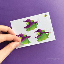 Load image into Gallery viewer, Frog Mail | October 2020 Witch Sticker sheet