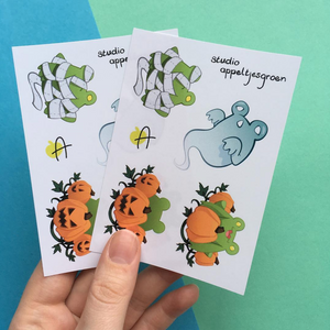 Froggoween 2017 | Sticker sheet