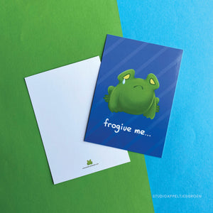Greeting card | Frogive me