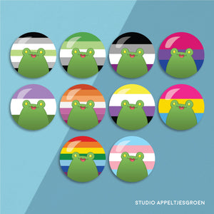 Floris the Frog | Pride LGBTQA+ buttons