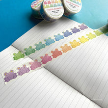 Load image into Gallery viewer, Floris the Frog | Pastel Rainbow, washi tape