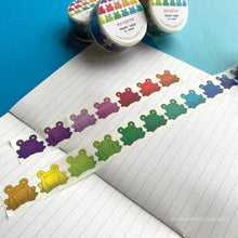 Load image into Gallery viewer, Floris the Frog | Rainbow, washi tape