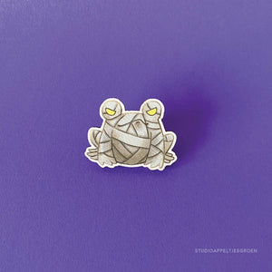 Froggoween | Floris the Mummy pin