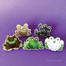 Load image into Gallery viewer, Froggoween | Floris the Ghost pin