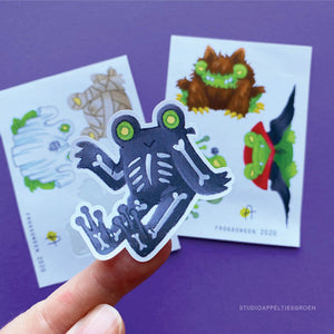 Froggoween 2020 | Sticker sheet