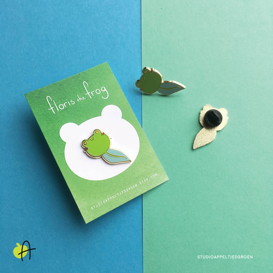Floris the Frog | Tadpole pin