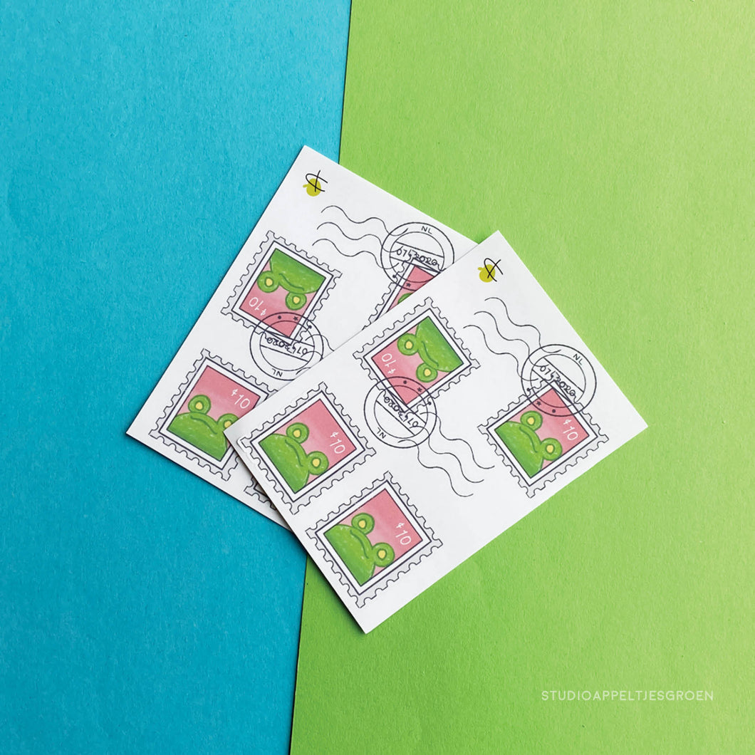 Floris the Frog | Frog Mail Stamps