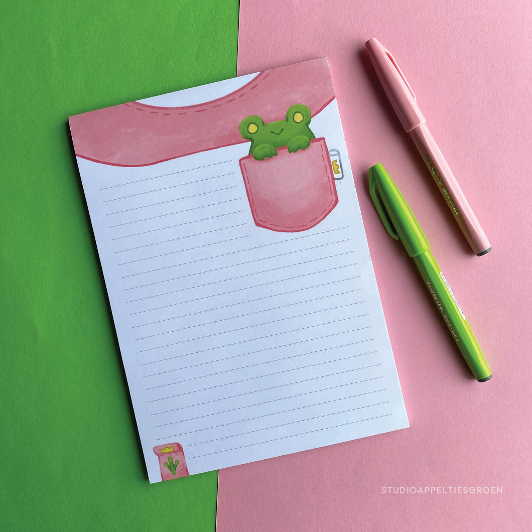 Floris the Frog | Tshirt notepad