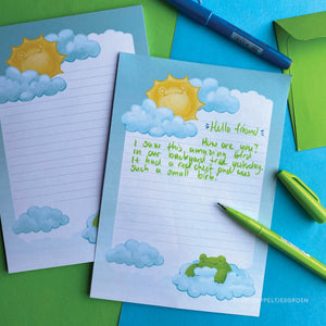 Floris the Frog | Sunny weather letter set