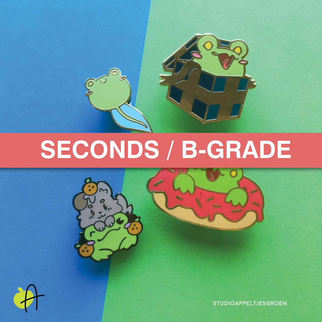 Floris the Frog | Seconds B-grade enamel pins
