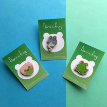 Load image into Gallery viewer, Floris the Frog | Love wood pin