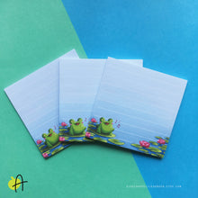Load image into Gallery viewer, Floris the Frog | Waterlily notepad