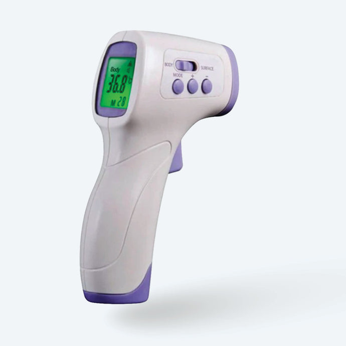 Stylist Guardian contactless Infrared Thermometers are specially designed to take the body temperature of a person regardless of room temperature. Their non-contact feature helps you keep a safe distance to avoid infection. These medical quality thermometers are perfect for measuring the temperature of an adult by checking their forehead, with it's safe no-contact laser temp design. The temperature will be displayed on an easy-to-read LCD screen with clinically proven accuracy that you can rely on.
