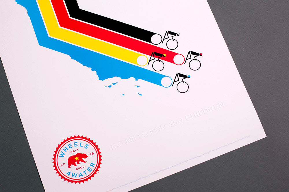 2015 Wheels4Water Route Poster
