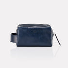 Marine Brooklyn Leather Dopp Kit Front View