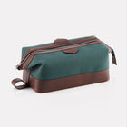 Green Canvas Large Wash Bag Front/Side View