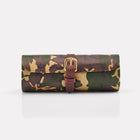 Sherwood Camo Leather Watch Roll Front View