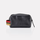 Black Finsbury Leather Dopp Kit Front View