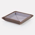 Dark Brown Brooklyn Leather Travel Tray
