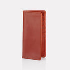 Tan Bridle Leather Slim Wallet Front View