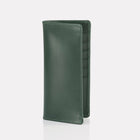 Green Bridle Leather Slim Wallet