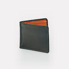 Contrast Green Bridle Leather Billfold Wallet Front View