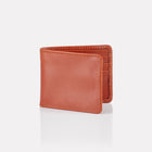 Tan Bridle Leather Billfold Wallet Front View