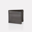 Black Bridle Leather Billfold Wallet Closed View