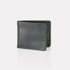 Green Bridle Leather Billfold Wallet Front View