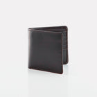 Black Bridle Leather Notecase Wallet Front View