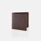 Dark Brown Brooklyn Leather Notecase Wallet Front View