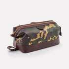 Sherwood Camo Leather Large Wash Bag Front/Side View