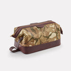 MTP Camo Leather Large Wash Bag Front/Side View