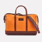 Orange Canvas Overnight Bag Front View