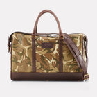 MTP Camo Leather Overnight Bag Front View