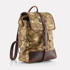 Camo MTP Leather Backpack Front View