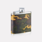 Sherwood Camo Leather 4oz Hip Flask