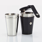Black Bridle Leather 4oz Cup Set
