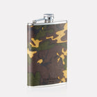 Sherwood Camo Leather 8oz Hip Flask