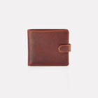 Brown Brooklyn Leather Notecase Wallet with Coin Pocket Front View