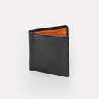 Contrast Black Bridle Leather Billfold Wallet Front View